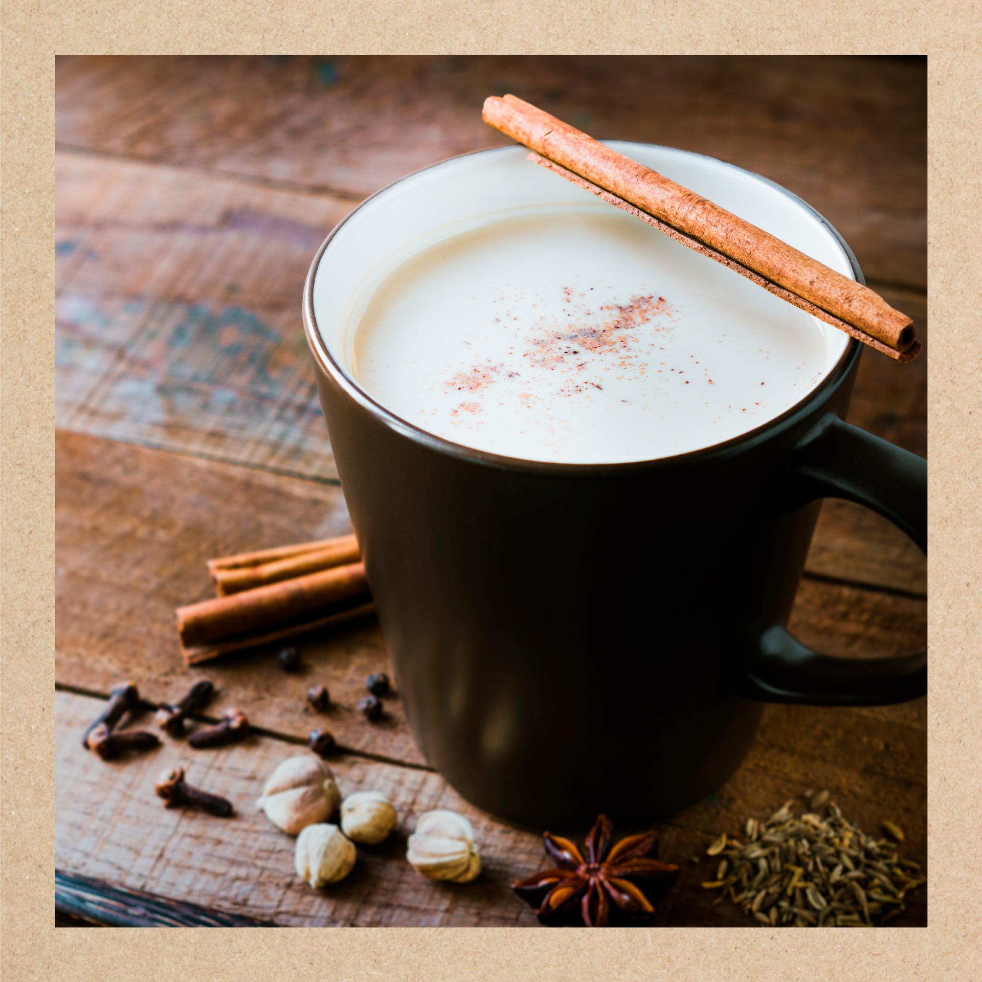 Imagen de un vaso de leche merengada