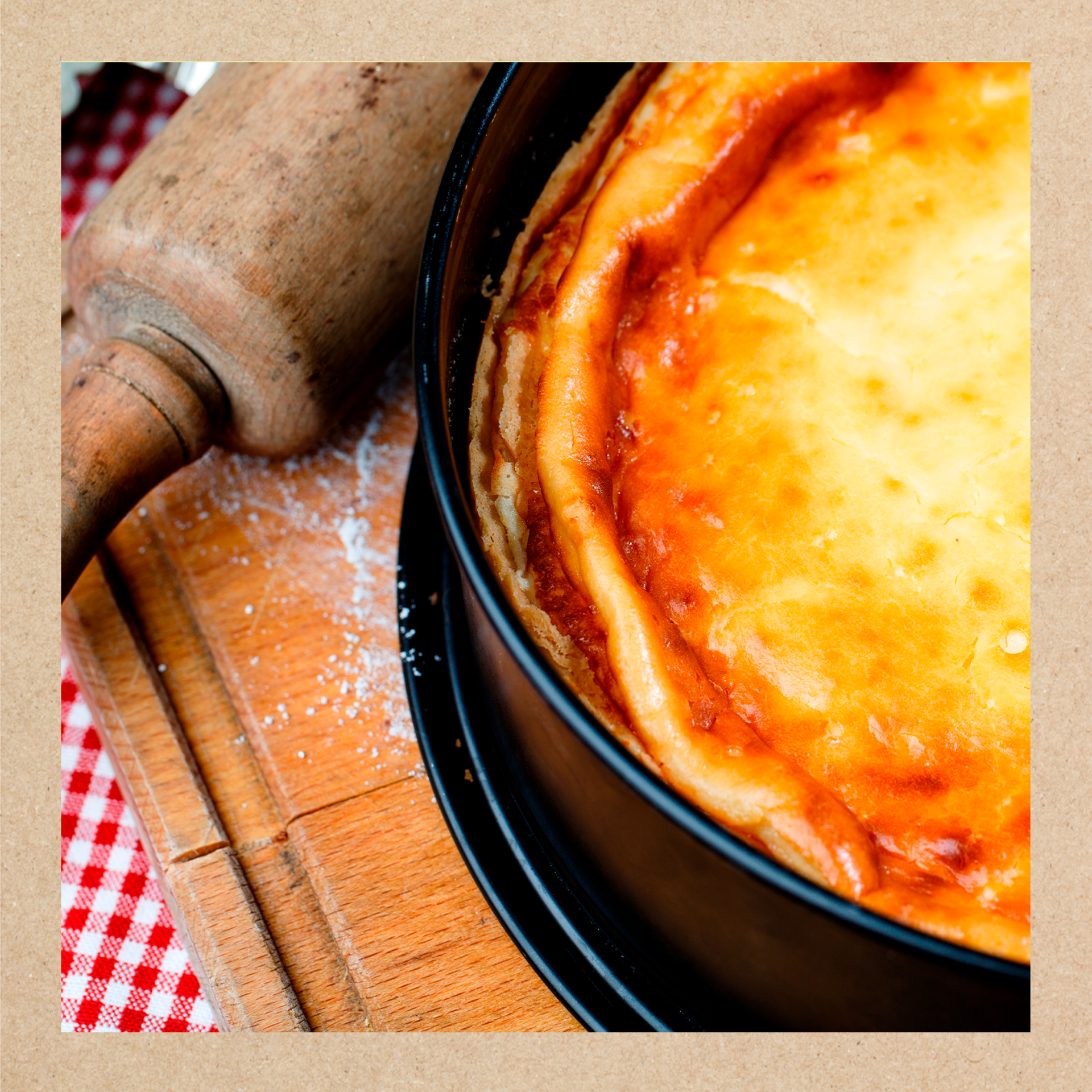 Imagen representativa de una tarta de queso