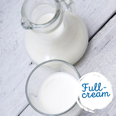 Full-cream milk is less healthy
