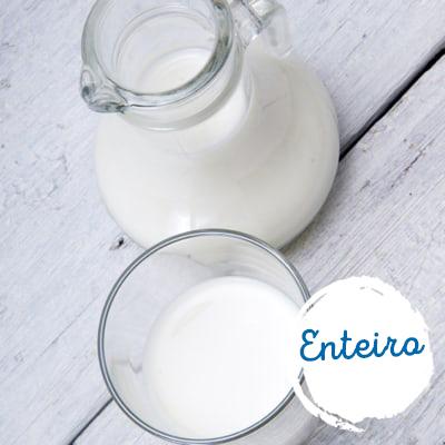 O leite enteiro é menos san